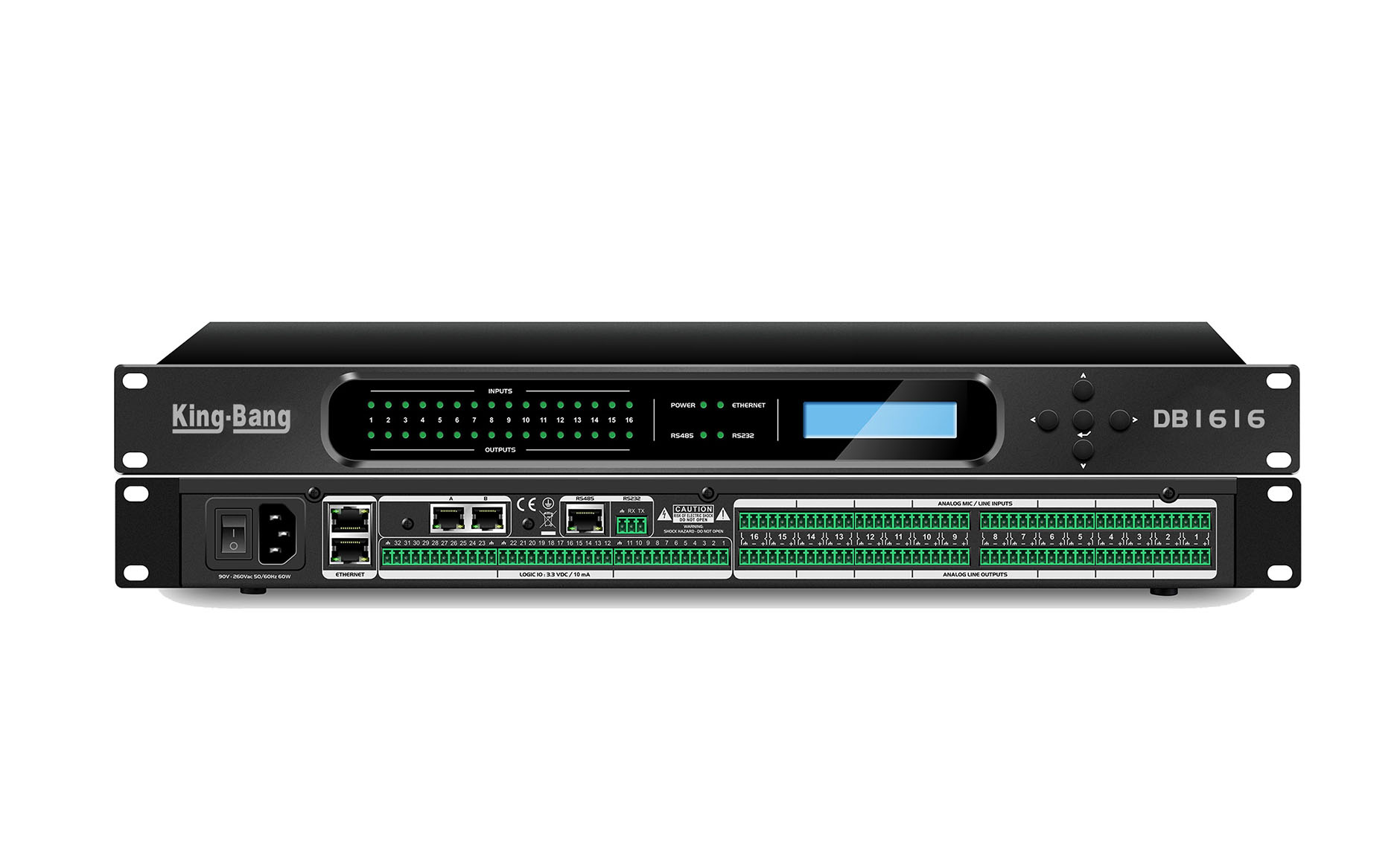 16进16出数字音频处理器   DP1616