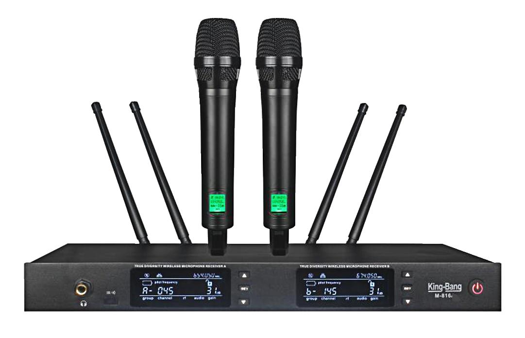 UHF一拖二真分集无线麦克风   M-816